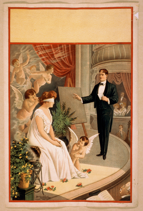 Hypnotist or Second Sight stock poster c1900